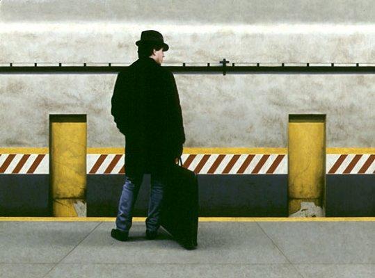 Self Portrait in Subway II
