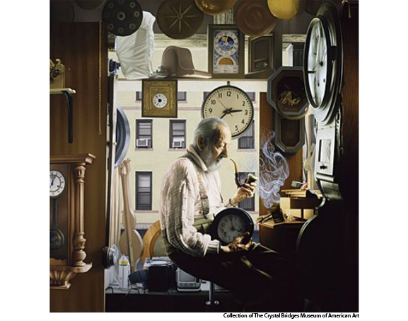 """Time 2006"" 36 x 36; Oil on Panel"